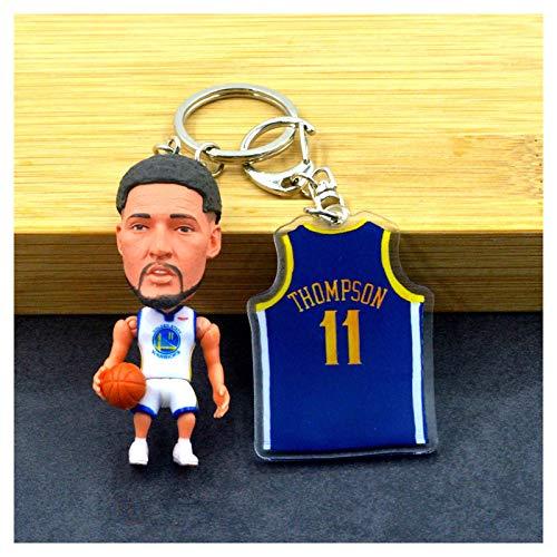 ahjs456 Kobe Curry NBA Basketball Shirt Schlüsselanhänger Anhänger James Durant Wade Sternpuppe Schlüsselanhänger 7