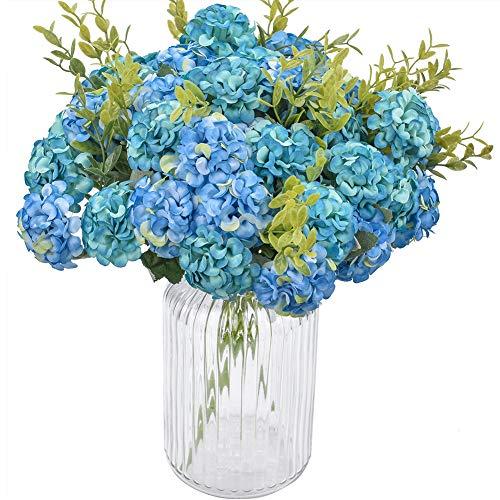 XONOR 4 Paquetes de Seda Artificial Hortensia Nupcial Dama de Honor Ramo de Flores para el Banquete de Boda Decoración del Hogar, 10 Cabeza, 36 cm (1)