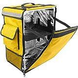 CityBAG - Mochila isotérmica 35 x 49 x 25 cm Amarilla para Entrega de Pedidos de Comida en Moto y...