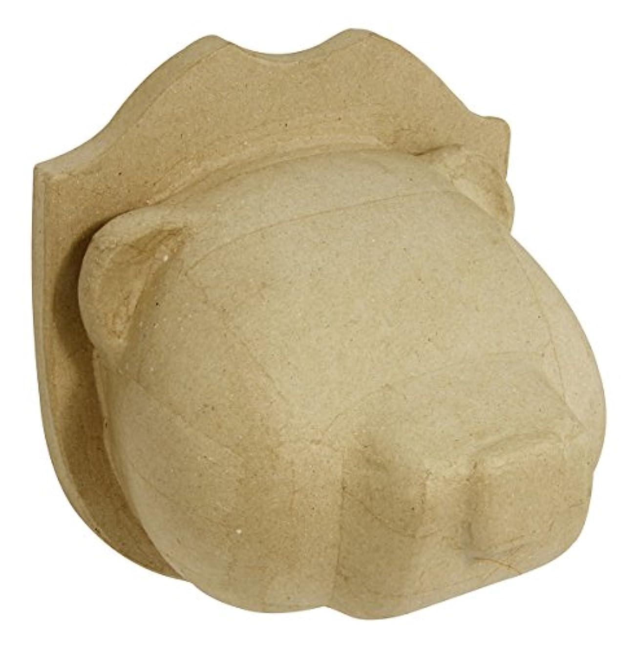 d茅copatch Mache Bear Trophy Head, 11 x 15.3 x 17 cm, Brown