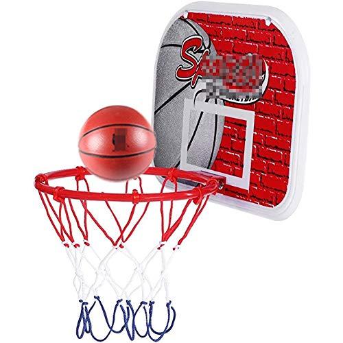 MHCYKJ Mini Canasta Baloncesto Habitacion De para Juego Puerta Montado En La Pared Niños con Pelota Juguete Deportivo Infantil Tablero (Size : A)