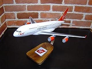 1/152 A380 (エアバス) ヴァージンアトランティック航空 木製飛行機模型 (旅客機) ソリッドモデル