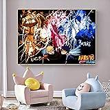 AQgyuh Puzzle 1000 Piezas Naruto Pintura Arte Pintura Puzzle 1000 Piezas educa Educativo Divertido Juego Familiar para niños adultos50x75cm(20x30inch)