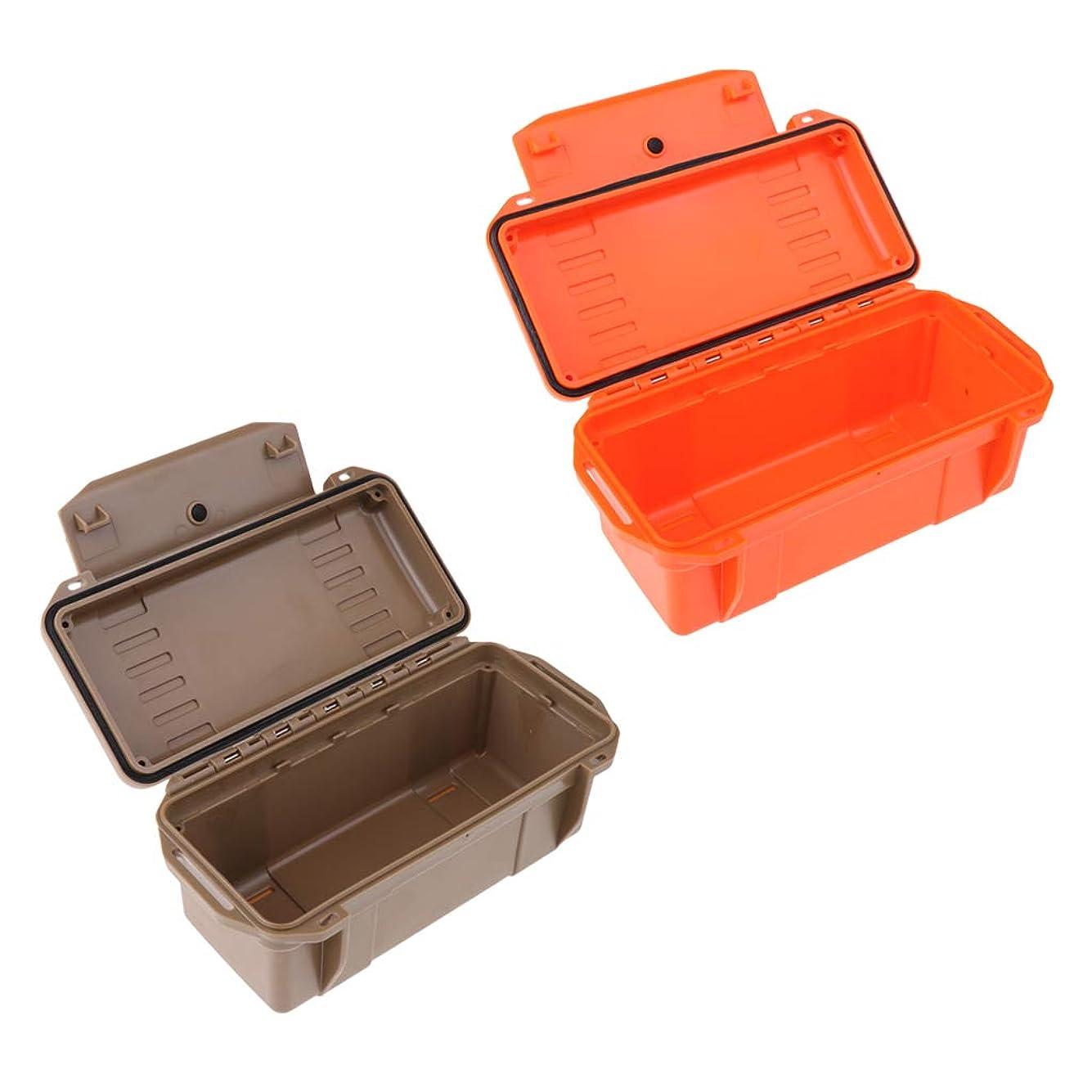 意図するディレクトリポータブルCUTICATE 2パック屋外防水耐衝撃収納ボックス気密緊急ドライボックス