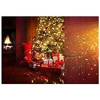 Allenjoy 7 x 5フィート クリスマスイブシーン 写真 背景 デコレーション クリスマス 新年 リビングルーム ツリー ギフト ナイト ホリデー パーティー用品