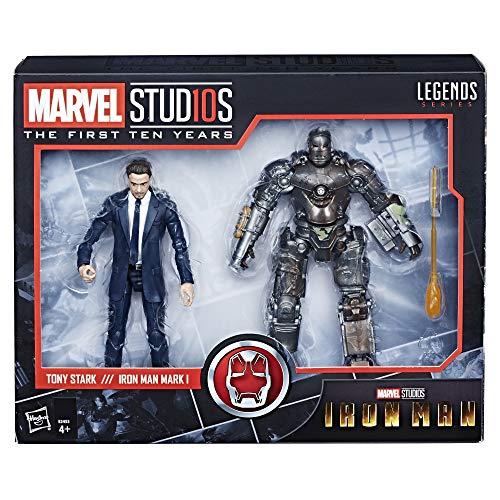 Marvel Studios: The First Ten Years – Edition Collector Iron Man – Figurines Tony Stark et Mark I - 15 cm