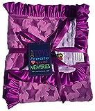 Baby Girls Reversible Minky Velboa Stroller Blanket (Choose Color) (Purple Star/Lavender Dot)