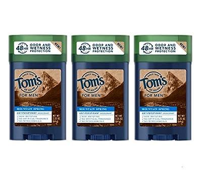 Tom's of Maine Men's antiperspirant, for Men, Mens Deodorant Antiperspirant