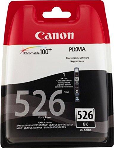 Canon CLI-526BK Pixma 4850/5150 Cartuccia Inchiostro, Nero