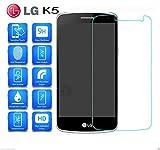 MUNDDY Protector de Pantalla para LG K5 Cristal Vidrio Templado Espesor 0,30 mm, 2.5D Round Edge, [9H Dureza] [Alta Transparencia] [Sin Burbujas] [Ajuste