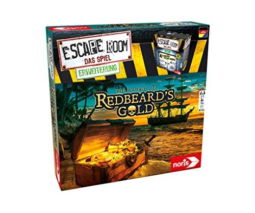 Noris 606101797 - Escape Room Erweiterung Redbeards Gold - Familien und Gesellschaftsspiel für Erwachsene - Nur mit dem Chrono Decoder spielbar - ab 16 Jahren