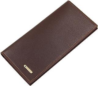 BeniNew men's wallet long multi-function large capacity wallet-dark brown