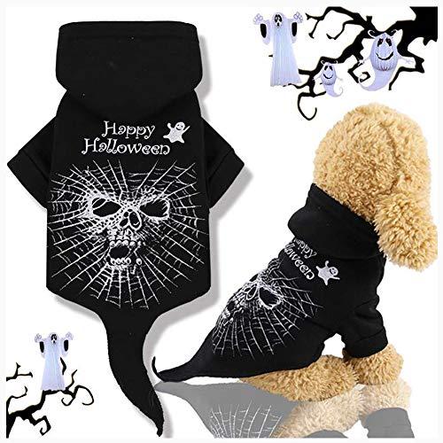 Kostuums Halloween huisdier hoodie zwart festival kostuum Halloween skelet Terrible hoodie Puppy Coat Doggy outfits voor middelgrote kleine honden