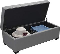 LJFYXZ Folding Storage Ottoman Fabric Shoe Changing Stool Sofa Ottoman Flip Hinge Extra seat for Bedroom Living Room Corri...