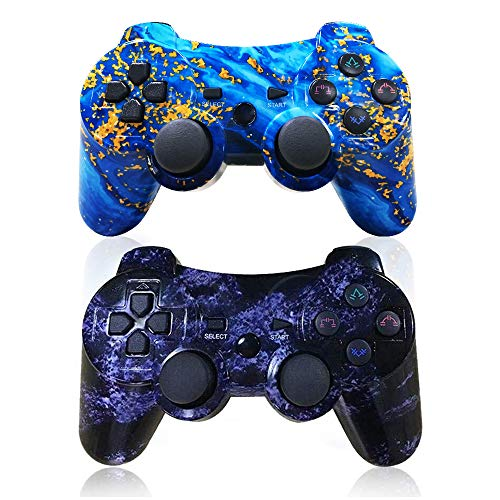 commercial CHENGDA OPS3 Wireless 2-Pack Controller DualShock Gamepad for Improved Sony Playstation 3 … cool ps3 remotes