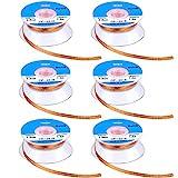 6 Pieces Solder Wicks No-Clean Solder Braided Wicks Desoldering Wicks, 1.5 meter Length (B...