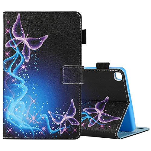 Galaxy Tab A 8.0 inch T290 T295 Case-PU Leather Folio Multi-Angle Viewing Full Body Protection Tablet Cases for Samsung Galaxy Tab A 8.0 inch T290 T295 2019 Release(Purple Butterfly)