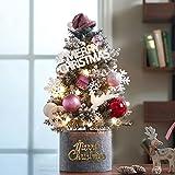 YHSW Árbol de Navidad de Mesa de 60 cm,Árbol de Navidad Mini,para Árboles de Navidad Regalo Cono de Abeto Rojas Decoraciones para el Hogar de Navidad(Rosado)