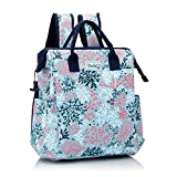 Swig Life Packi Backpack Cooler, Portable, Lightweight, Leak Proof Lining & Waterproof Beach Backpack with Padded Shoulder Straps, Magnetic Snap Side Pockets & Air-Tight Zipper in Coral Me Crazy Print