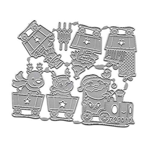 Plantilla de troqueles de corte de metal para coche de navidad DIY...