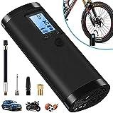 VEEAPE Elektrische Digitale Reifenpumpe mit 2000mAh Akku, 100PSI Fahrradluftpumpe Kompressor mit LCD-Bildschirm für Auto, Fahrrad, Motorrad, Basketball, Football usw. Als Taschenlampe und...
