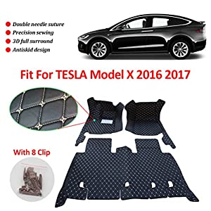 Anti-Slippery Leather Floor Mats for Tesla