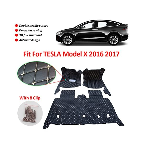Anti-Slippery Leather Floor Mats for Tesla