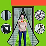 Magnetic Screen Door - Homearda Mosquito Mesh Curtain-New Upgrade Magnets and Full Frame Magic Adhesive Tape-Fits Door Size up to 36''X82''