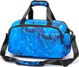 Boys Overnight Duffle Bag for Weekend Travel Little Kids Small Sports Duffel for Camping Soccer Basketball Football Bag with Shoulder Strap Zipper Pockets (Stars,Blue)