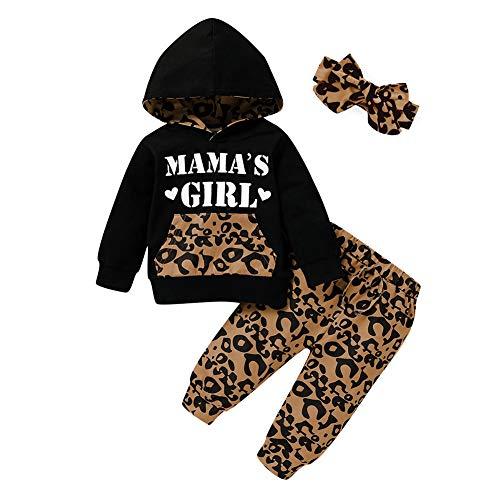 Baby Mädchen Kleidung Langarm Hoodie Tops Sweatsuit Hose Mamas Girl Daddy's Girl 2 Stück Trainingsanzug