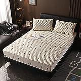 XGguo Protège Matelas Alèse de lit - Anti-Acarien, Anti Bactérien, Drap de lit Plus épais Une pièce antidérapant-19_100 × 200cm