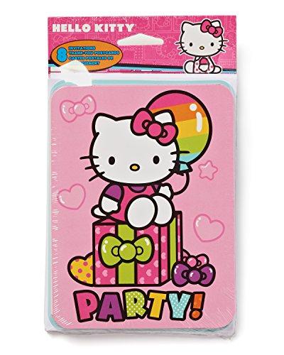 Hello Kitty Birthday Invitations (Pack of 8)