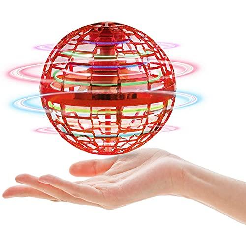 Giocattoli volanti controllati a mano Grossi Gioco a sfera con luci colorate a LED e trucchi magici, morbido spinner di volo elastico elastico come regali unici per bambini adulti giocando all'aperto