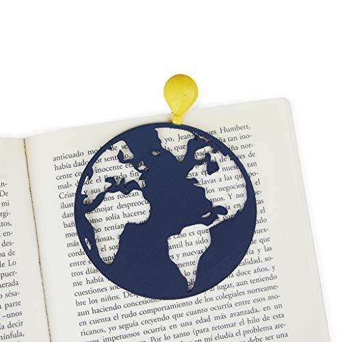 Balvi Segnalibro Globetrotter Colore azurro Prodotti di cancelleria con la Forma di Una Mongolfiera per i Lettori e Gli Studenti Nylon/plastica