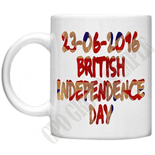 reforendum, British Unabhängigkeit Tag, brexit, EU, Geschenke, politisch, Politik, Mikrowelle Spülmaschinenfest Tasse Steinware, British Exit von EU