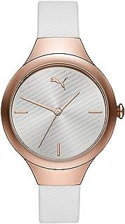 Puma Contour Women's Silver Dial PU Leather Analog Watch - P1018