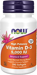 NOW Foods Vitamin D3 5000 Iu 240 Softgels