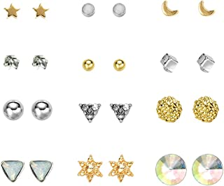Ciyoon Womens Stud Earrings Tassels Pendant Ornaments Set Vintage Earring for Women and Girls