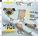 Cut And Sew, Fat Quarter, Mops Stoffe - Individuell