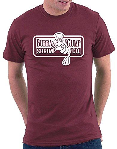 Million Nation T-shirt Bubba Gump Shrimp Company - Rouge - 46