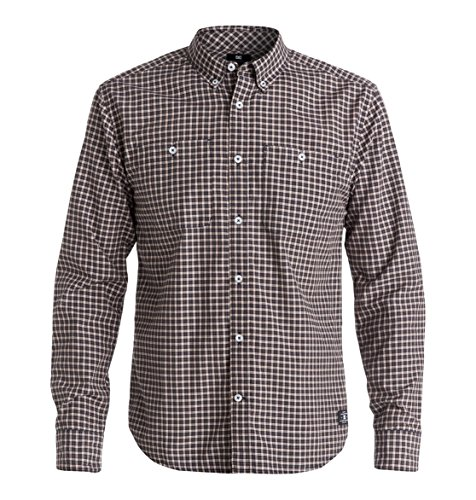 DC Shoes Wind Chester - Chemise casual - Taille normale - Col chemise classique - Manches longues - Homme - Multicolore - 37 (Taille fabricant: XS)