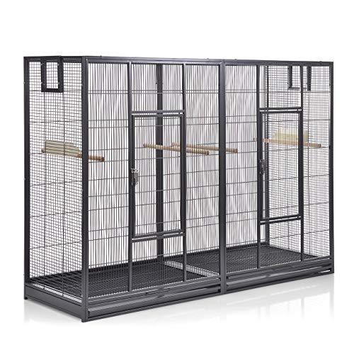 Montana Cages ® | Vogelkäfig Melbourne 160 - Antik Doppelkäfig, Käfig XL, Voliere für Sittiche & Finken