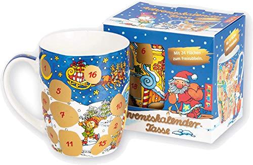 Adventskalender als Tasse mit 24 Flächen zum Freirubbeln von Lutz Mauder | Version 2020 | Geschenk Advent Weihnachten Kalender Überraschung