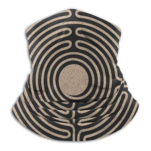 Diadema de coco marrón M-Ask Bandana para la cabeza, bufanda, calentador de cuello, pasamontañas para deportes