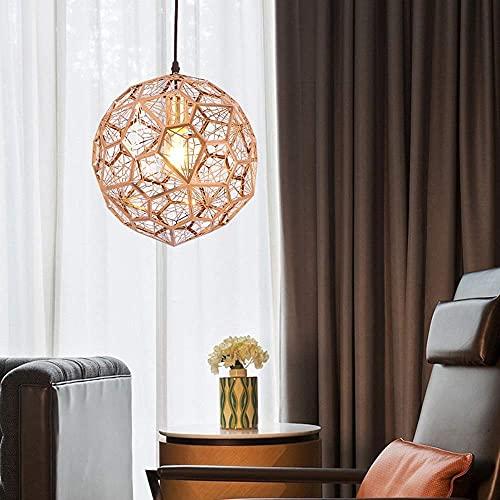 luz de Techo Estilo nórdico Personalidad Creativa Diseño Araña Cabeza única Bola de Diamante Restaurante Simple Dormitorio Sala de Estar Pasillo Pasillo Iluminación (Color: Dorado, Tamaño: D30CM)