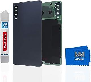 غطاء خلفي MMOBIEL مع عدسة متوافقة مع سامسونج جالاكسي A7 A750 (2018) 6 بوصة (أسود)