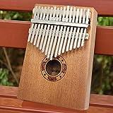 SFFSM SFIT 17 Teclas Kalimba Pulgar Piano de Madera de Caoba Cuerpo Instrumento Musical con el Aprendizaje Libro Tune Martillo for Principiantes Kalimba Bolsa (Color : 17 Keys Red)