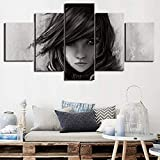 None brand Canvas Pictures 5 Pieces Home Decor Paintings Lightning Returns Minimalism Wall Art Prints Poster Hotel Modular Living Room-30x40 30x60 30x80cm Sin Marco