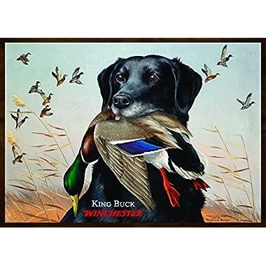 Rockin W Brand Winchester King Buck Area Rug, Multi-Color