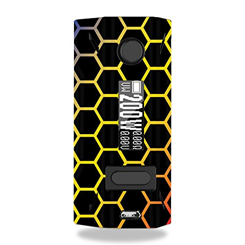 MightySkins Skin Compatible with Smoant Battlestar 200W - Primary Honeycomb | Protective, Durable, and Unique Vinyl Decal wrap Cover | Easy to Apply, Remove, and Change Styles | Made in The USA
